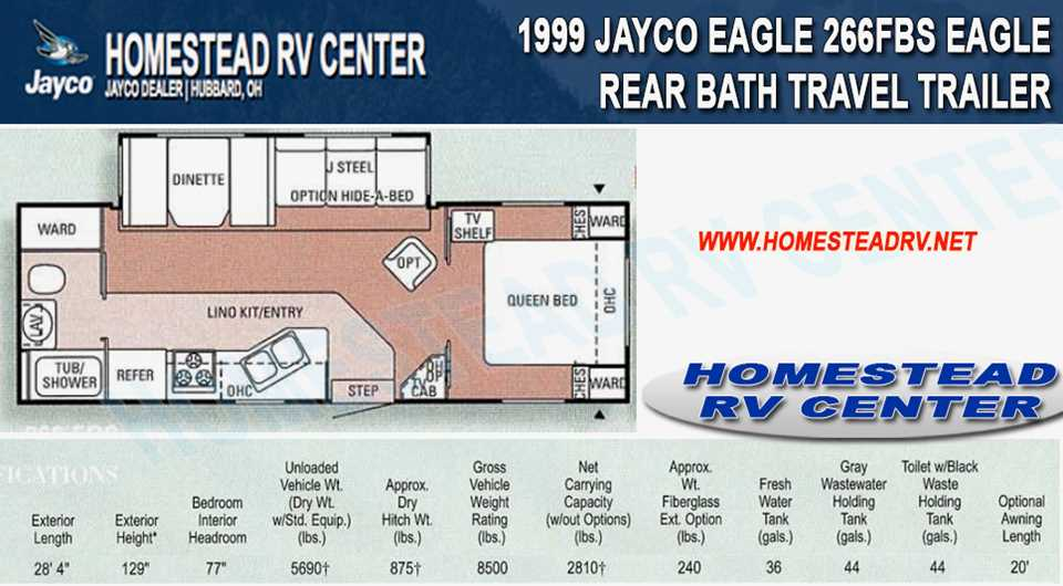 Used 1999 Jayco Eagle 266fbs Travel Trailer Stock 1205 For Sale Homestead Rv Center