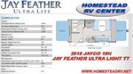 2015 Jay Feather Ultra Lite X19H
